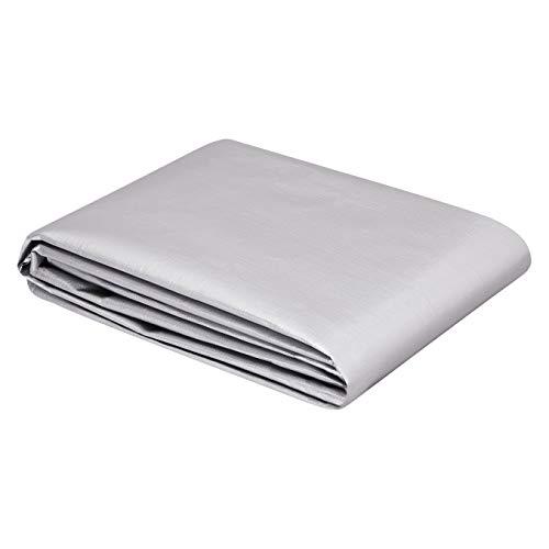 AmazonCommercial - Lona impermeable de poliéster multiusos, 2,5x3m, 0,4mm de espesor, plateado y negro, pack de 1unidad