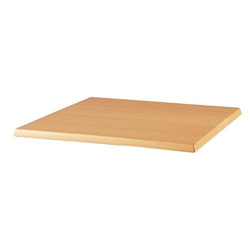 Werzalit Plus Ce156 carré Dessus de table, 600 mm, hêtre Planked
