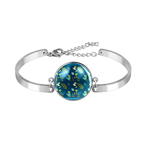 Braccialetto regolabile braccialetto braccialetto carino blu fumetto Dodo uccello bambino