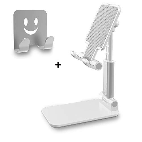 BERTRONIC Companion BC520 Handy & Tablet Ständer | Höhenverstellbare Halterung aus Aluminium | Doppelscharniere, 270 Grad verstellbar | für iPhone, Galaxy, iPad, Sony, HTC, Samsung, LG und Mehr