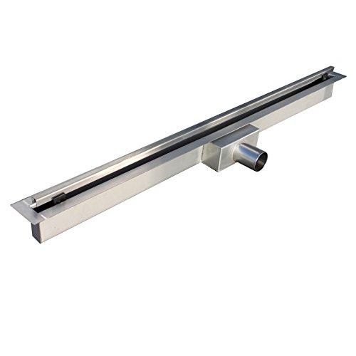 Duschrinne Slim Bodenablauf Ablaufrinne Abflussrinne Duschablauf befliesbar in verschiedenen Modellen und Größen (900 x 70 mm,