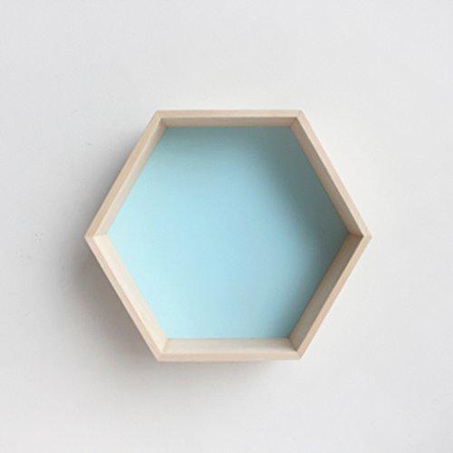 ZWJRXM DFHHG® Regale, sechseckiges Bienenwaben-Regal-kreative Gitter-Feste hölzerne Wand 30 * 35 * 18cm Stark und langlebig (Farbe : #3)