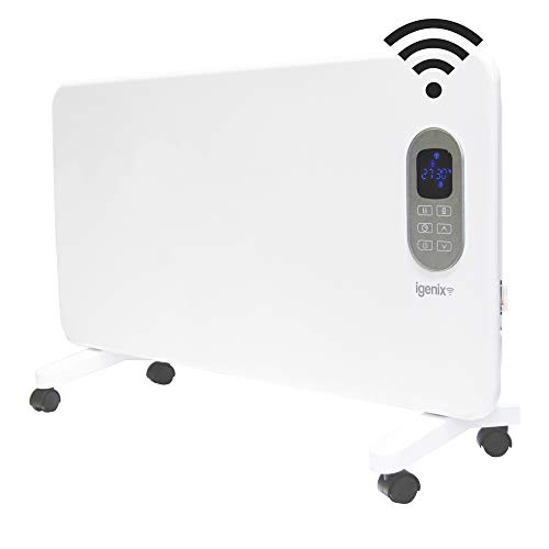 Igenix IG9520WIFI Smart Electric Panel Heater with Amazon Alexa, Freestanding with Castors or Wall Mountable Heater with Day and Weekly Timer and Remote Control, 2000 W