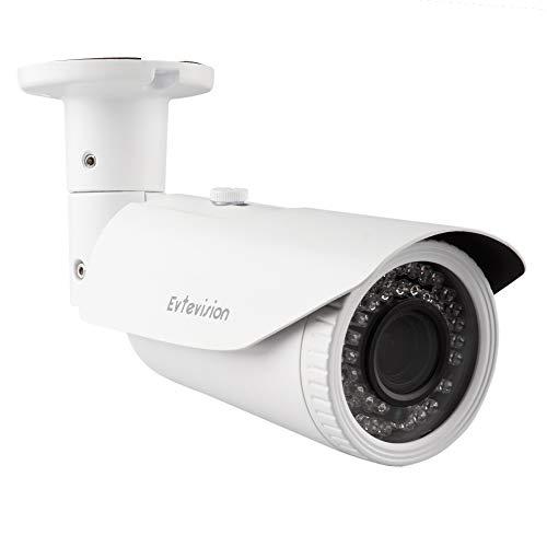 Evtevision Bala Cámara de seguridad 5MP HD 4 en 1 TVI/CVI/AHD/CVBS Cámara 2.8-12 mm Lente varifocal Impermeable 130 pies 42Leds Interior/Exterior Cámara de Seguridad de vigilancia