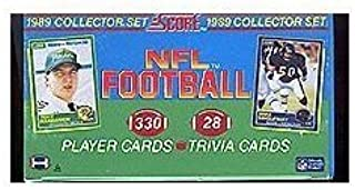 1989 Score Football Complete Mint 330 Card Factory Set. This Set Is Loaded with Rookie Cards Including Barry Sanders, Troy Aikman, Cris Carter, Deion Sanders, Tim Brown, Michael Irvin, Thurman Thomas, Derrick Thomas and Many More! Tons of Stars Including Dan Marino, John Elway, Jerry Rice, Joe Montana and Others!
