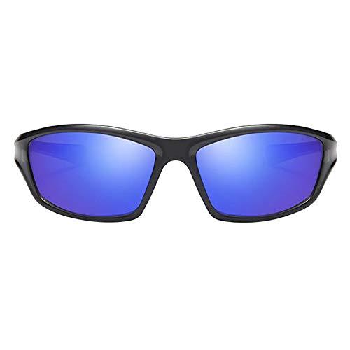 SDENSHI Gafas de Sol Deportivas para Esquí, Protección UV400 Ciclismo Bicicleta Gafas de Bicicleta, Gafas de Sol Unisex para Correr/Esquiar/Hacer Snowboar - Azul oscuro