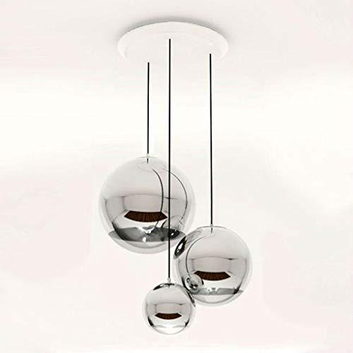CUTICATE Lampadario A LED A Sospensione in Vetro A Bolle con Lampada A Sospensione - Bianco Caldo, 25 Centimetri