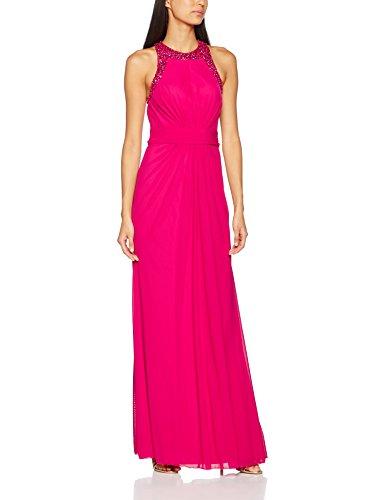 Mascara Damen Beaded Back Kleid, rosa (Magenta), Gr. 42 (Herstellergröße: 16)