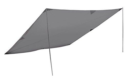 High Peak Sonnensegel Tarp 2, 400x400 cm, Sonnenschutz, Wetterschutz Tarp , Universal Camping Plane, leicht, variable Aufbaumöglichkeiten mit 2 Aufstellstangen 200 cm