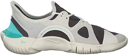 Nike Damen WMNS Free Rn 5.0 Leichtathletikschuhe, Mehrfarbig (Sail/Volt/Thunder Grey/Aurora Green 000), 42.5 EU