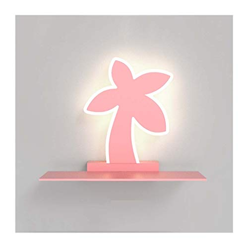 WYZ Kinderwand, creatieve wandlamp, 10 W, LED, wandlamp met plank, Living Room Decor Boy Girl