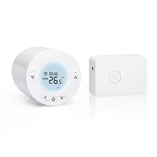 WLAN Heizkörperthermostat, Flysocks Smartes Thermostat mit LCD-Anzeige Intelligenter Programmierbar Heizungsthermostat für Einzelne Räume, Kompatibel mit Alexa, Google Assistant