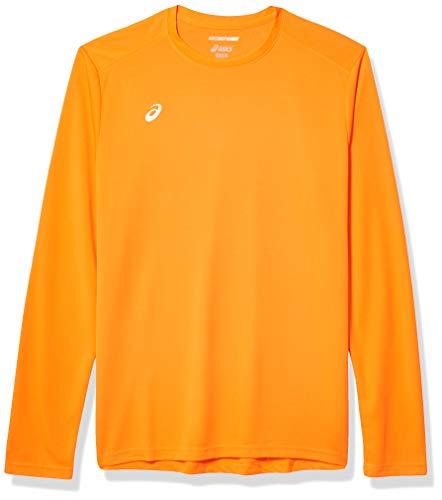 ASICS Circuit 8 - Camiseta de Manga Larga para Hombre, Hombre, Manga Larga, Ref!, Naranja Fluorescente, Extra-Small