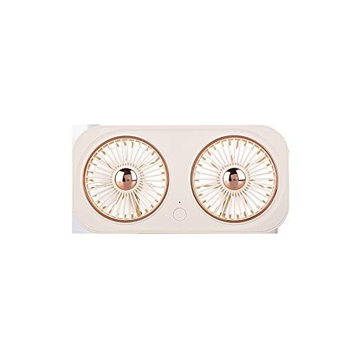 JUBANGLIAN Ventilador personal USB portátil, mini ventilador plegable de doble hoja con batería incorporada de 2000 mAh 360 ° Ajustar ventilador retro para el hogar al aire libre (blanco)