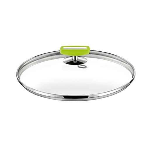 Cuisinox Malice - Couvercle 24cm verre, bakélite vert anis et acier