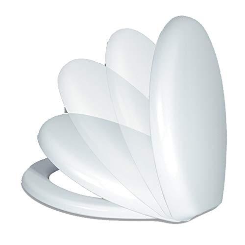 Sedile Wc Copri Water Tavoletta Vaso Universale Bianco Polipropilene PP Sistema Soft Closing Bagno