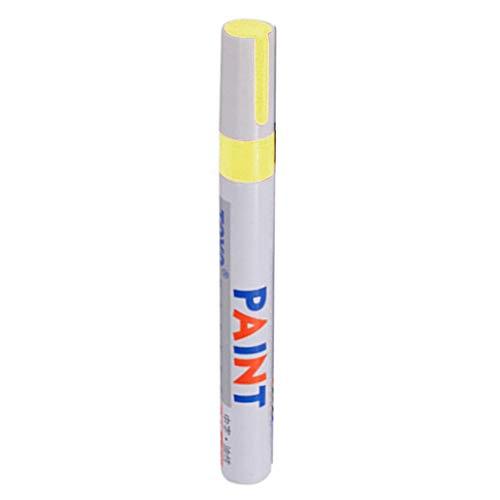rycnet Rotulador de pintura permanente universal impermeable para neumáticos de coche, color amarillo