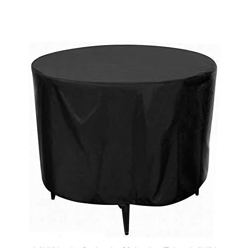 Fundas para Muebles De Jardín Impermeables 230X110Cm, Fundas para Muebles De Patio para Mesa Redonda, Funda para Exterior para Mesa De Patio, Tela Oxford Resistente 420D, Protección contra El Polvo Y