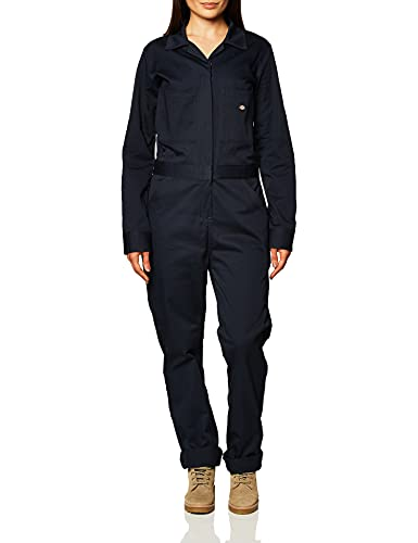 Dickies Women's Long Sleeve Cotton Twill Coverall, Dark Navy, Large