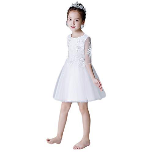 Conciso Vestido de novia vestido de los niños blancos se visten de...