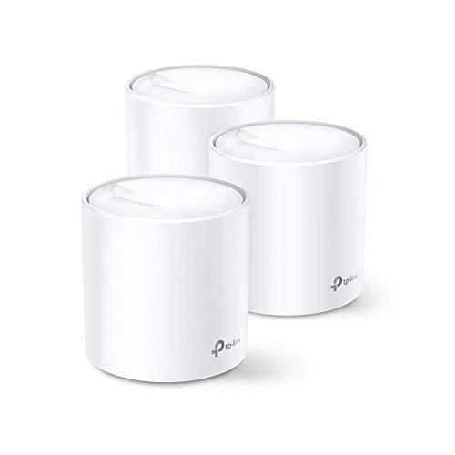 TP-Link Deco WiFi 6 Mesh AX 3000Mbps Deco X60(3-Pack) - Système WiFi 6 pour Toute la Maison - Couverture WiFi de 550㎡ - Installation Facile - Contrôle Parental - Compatible avec toutes les Box Fibre