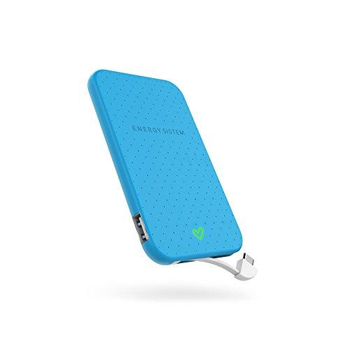 Energy Sistem Extra Battery 2500 Blue Batería Externa de Carga rápida para Tus Dispositivos móviles (2500 mAh para Smartphones, diseño ultradelgado y Cable Integrado) Azul