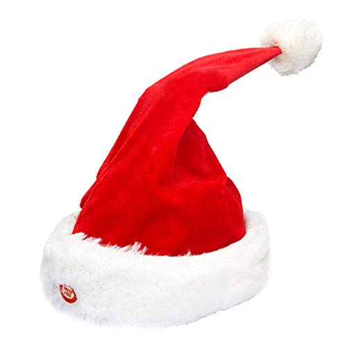 Mily Singing Dancing Moving Santa Hat Plush Funny Dancing Hat Christmas Gift