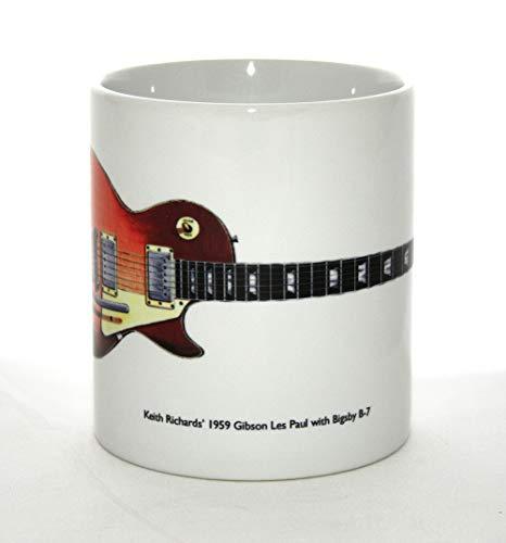 Gitarren-Becher. Gibson Les Paul von Keith Richards mit Bigsby Gitarren-Illustration