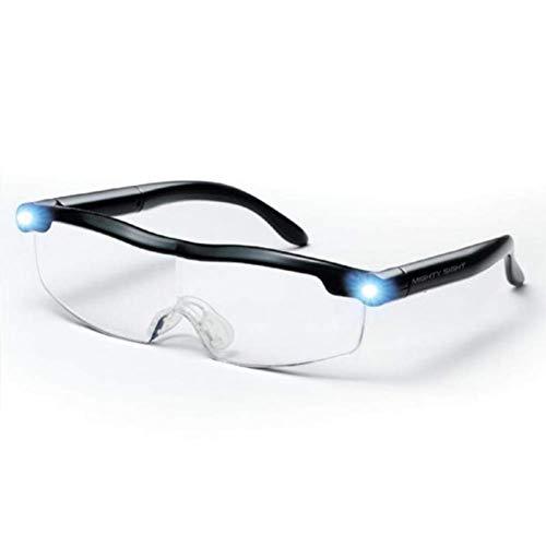 XJZHANG Mighty Sight LED Lupenbrille, Vision Lupenbrillen, Lupe Stirnband Brille mit Licht 160% ige Vergrößerung, großartige Brillen für Leser, Frauen, Männer, Kinder,50pcs
