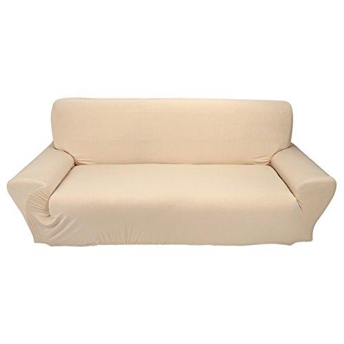 ROSEBEAR Funda para Sofá Funda Protectora para Sofá Funda Lavable Protector de Muebles Extraíble Y Lavable para Sala de Estar (Beige)