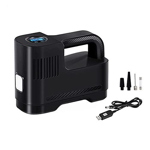 Inflador Compresores Aire Portátil,Inalámbrico USB Bomba Inflador Eléctrico Neumático Coche Con LED Iluminación,30s Relleno Rápido,Para Bicicletas,Motocicletas,Bolas,Bote Inflable Y Juguetes