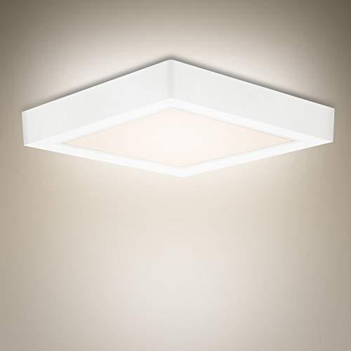 LED-Deckenleuchte weiß 18 W 23 * 23 cm quadratisch 1530 Lumen 4500k neutralweiß CRI 80 klarere Sicht, geeignet für Wohnzimmer, Schlafzimmer, Küche, Flur usw.…