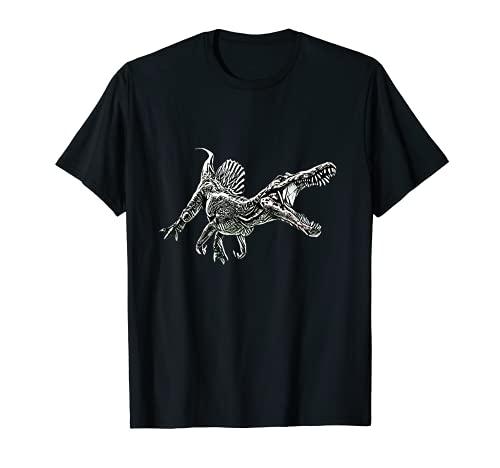 Spinosaurus Motiv Dinosaurier Dino Saurier Urzeit Zähne T-Shirt