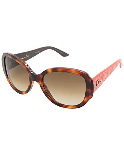 Dior 98Q Havana and Brown Lady In Dior 1 Round Sunglasses Lens Category 2