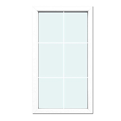 Glas:2-Fach BxH:500x500 Festverglasung Fenster Schokobraun beidseitig 1 flg Fest im Rahmen