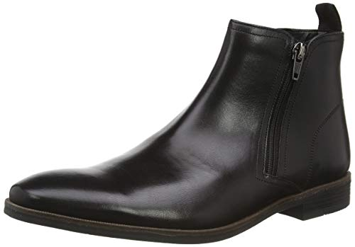 Clarks Stanford Zip, Bottes Chelsea Homme, Noir (Black Leather Black Leather), 43 EU
