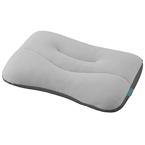 西川 枕 SUYARA 肩口ラク 高さ調整可能 洗える ソフトパイプ やわらか シルバー 243310588760000