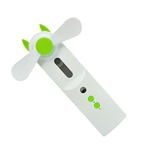 Dibiao Humidificador 2 en 1 Ventilador de Niebla Fría Mini Humidificador de Mano Pequeño Lindo Ventilador USB de Bolsillo para Chicas Ventilador de Exterior para Mujeres