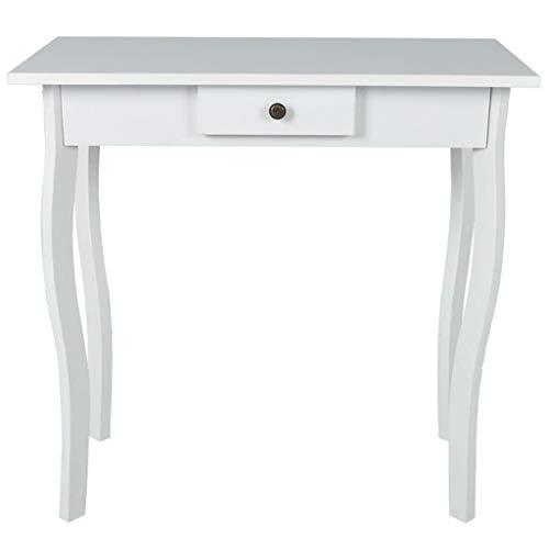 vidaXL Tavolini per Ingresso tavolino Ingresso Legno MDF Bianco