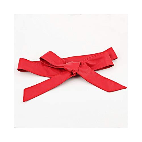 Aooaz per donne Pelle cintura donna pelle con Fibbia a singolo polo Cintura Rosso