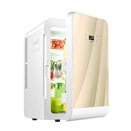 Best Deals! Mini Fridge- for Home and Car, Cooler and Warmer-20l Capacity, Tempered Glass Panel/Dual...