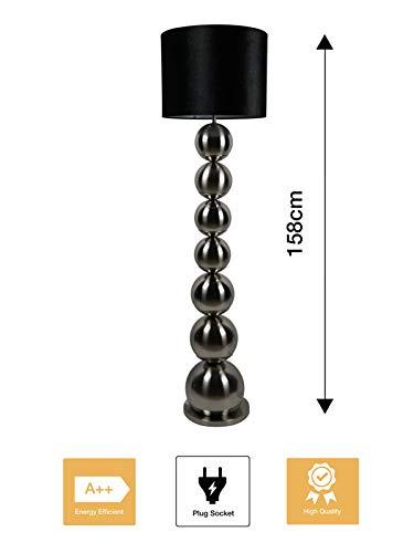 Bazaaronline Sta Lamp - Vloer Lamp - Floor Lamp - Bollen Lamp - Eric Kuster Style - Hoogte 158 CM - Ronde Voet - 40W E27 220/240V - Exclusief Lamp (Chroom)