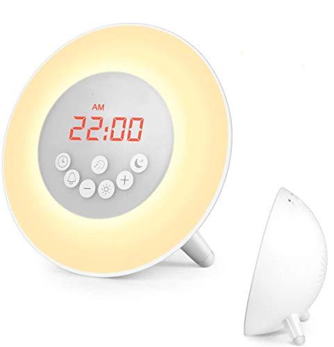 Sunrise Alarm Clock, Wake Up Light with 6 Nature Sounds, FM Radio,...