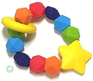 Baby Teether | BPA-Free Silicone Teething Ring & Sensory Chew Toy to Soothe, Relieve & Improve Infant Tooth Development | Great for 3+ Month Newborns Made with Food Grade Silicone