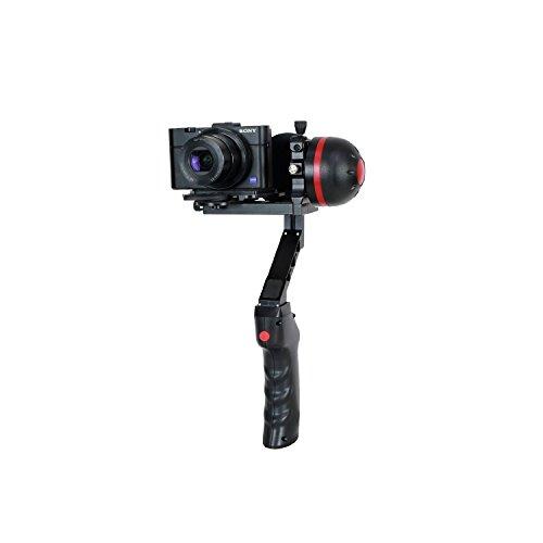Jobo GYROpod MD1 Stativ für kompaktgröße Kamera mit vollautomatischer Verwacklungsschutz, Verstellbarer Griff (360 Grad) und Einstellbarer Neigungswinkel schwarz