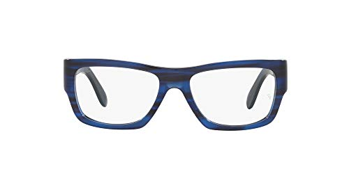 Ray-Ban 0RX5487 Gafas, STRIPED BLUE, 54 Unisex Adulto
