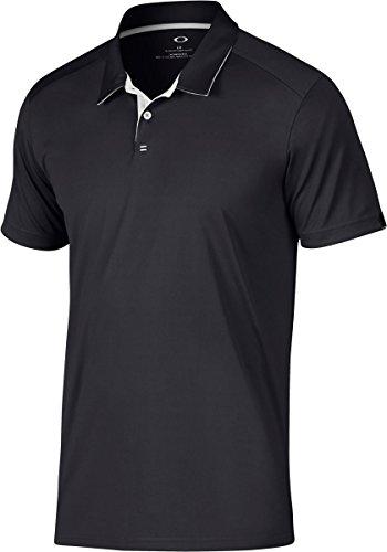Oakley Hombres del Polo de la división, Hombre, Color Blackout, tamaño L