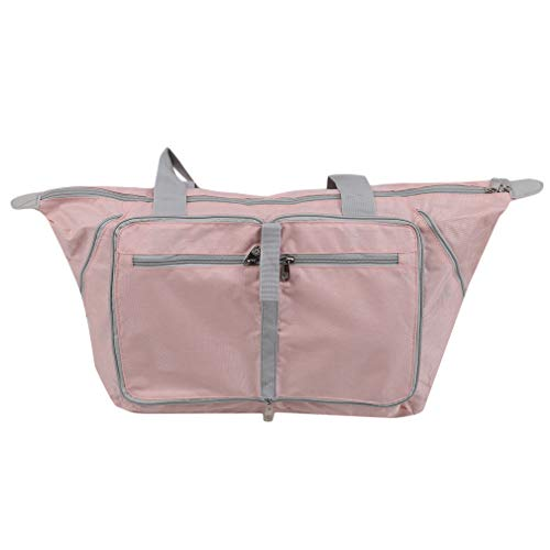 Hyhy Travel Folding Schultertasche Multi Pocket Lightweight Sport Tote Camping Organizer Tasche,Pink