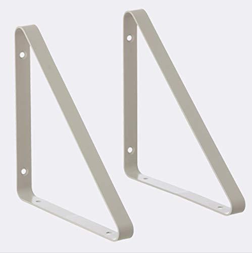 Liyijiestore Wandträger Regalträger (2 Stück) Kohlenstoffstahl,nordischer Stil,kreativ Dekorativ Dreieck Regalhalter (grün,schwarz,grau) (Color : Gray)