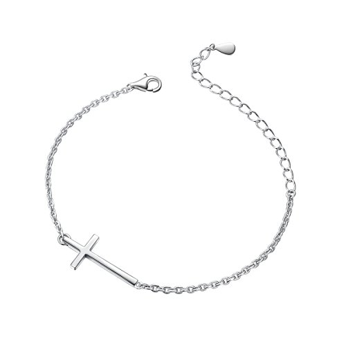 S925 Sterling Silver Small Cross Bracelet